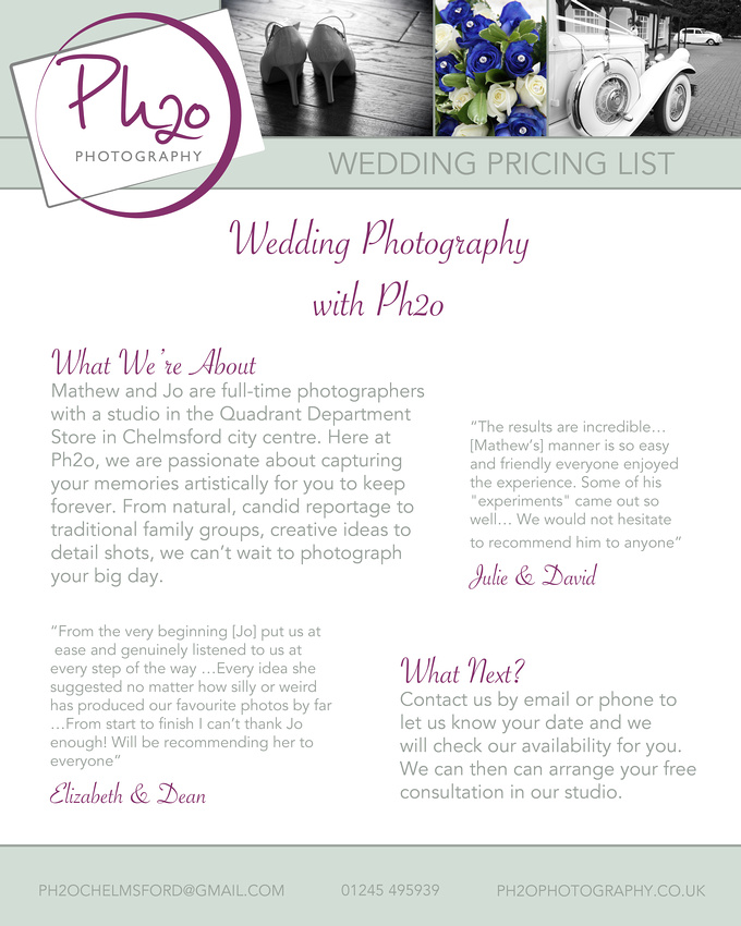 Wedding Intro Page